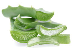Pieces of aloe vera Royalty Free Stock Images