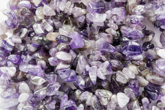 Pieces of amethyst Stock Photos