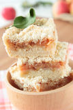 Pieces of apple crumble Royalty Free Stock Images