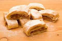 Pieces of apple strudel Royalty Free Stock Photography