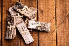 Pieces of bark Stock Photos