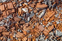 Pieces of beaten bricks and concrete blocks Stock Images