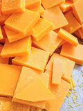 The pieces of beeswax to make candle Stock Image