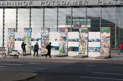 Pieces of Berlin Wall Royalty Free Stock Photo
