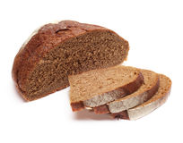 Pieces of black bread Stock Images