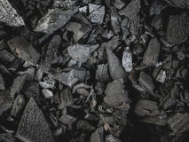 Black charcoal texture background. Stock Photo