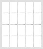 20 pieces blank A4 format sheet of white paper Stock Image