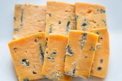 Pieces of blue cheese Stock Photo