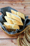Pieces of bread in a bowl Royalty Free Stock Photography