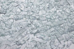 Pieces of broken glass Royalty Free Stock Photos