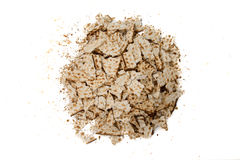 Pieces of broken matza - Top view Stock Image
