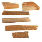Pieces of broken planks of beech isolated Royalty Free Stock Photos