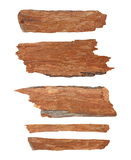 Pieces of broken planks isolated Royalty Free Stock Image