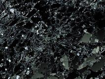 Pieces of Broken or Shattered glass on black. 3d illustration; 3d rendering Stock Image