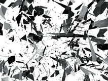 Pieces of Broken or Shattered glass on white. 3d rendering 3d illustration Royalty Free Stock Photo