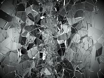 Pieces of Broken or Shattered glass on white. 3d rendering 3d illustration Stock Image