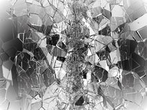 Pieces of Broken or Shattered glass on white. 3d rendering 3d illustration Royalty Free Stock Photography