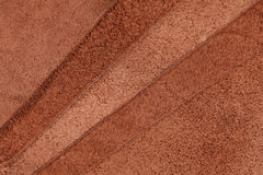 Pieces of brown leather Royalty Free Stock Photos
