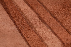 Pieces of brown leather. Nubuck Royalty Free Stock Photo
