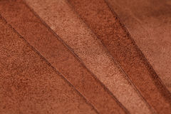 Pieces of brown leather. Nubuck Stock Photography