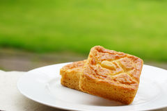 Pieces of butter cake Royalty Free Stock Image