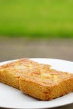 Pieces of butter cake Royalty Free Stock Images