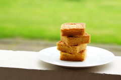 Pieces of butter cake Stock Photography