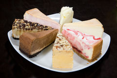 Pieces Of Cake. Pices of cake on the kitchen table stock photos