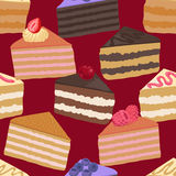 Pieces of cake seamless pattern Stock Image