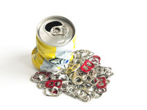 Pieces of can to recycle. For good environment Stock Photos