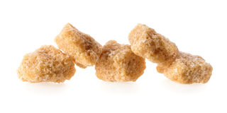 Pieces of cane sugar Stock Image