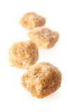 Pieces of cane sugar Royalty Free Stock Image