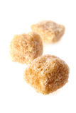 Pieces of cane sugar Royalty Free Stock Photos