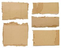 Pieces of cardboard Stock Photography