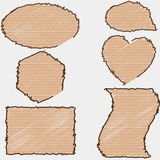 Pieces of cardboard on white background. Vector Royalty Free Stock Photo