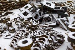 Pieces of cast iron Stock Photo