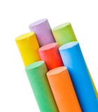 Pieces of chalk royalty free stock photo