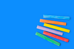 Pieces of chalk Stock Images