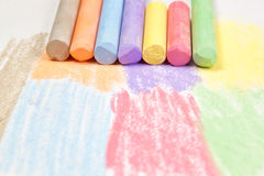 Pieces of chalk. Royalty Free Stock Images