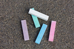 Pieces of chalk Royalty Free Stock Photography