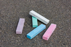 Pieces of chalk Royalty Free Stock Images
