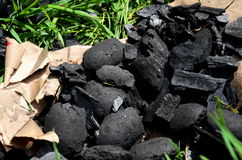 The pieces of charcoal Royalty Free Stock Image