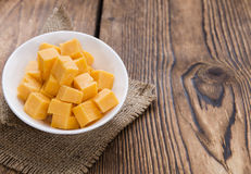 Pieces of Cheddar Stock Photos