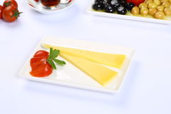 Pieces of cheese Stock Photography