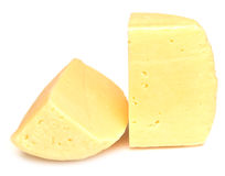 Pieces of cheese isolated Royalty Free Stock Images