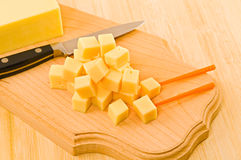 Pieces of cheese. Royalty Free Stock Images