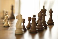 Pieces on chess board. Stock Images