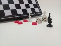 Pieces and chess board. stock image