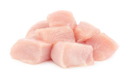Pieces of chicken fillet breast Royalty Free Stock Image