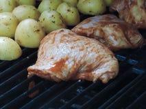 Pieces of chicken Stock Photos